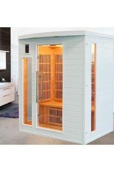 Sauna Infrarouge Soleil Blanc 3 Personnes Profitez de notre prix exceptionnel de 1699€ sur lekingstore.com Contactez nous au 01.43.75.15.90