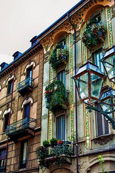 Balconies in Torino / Turin