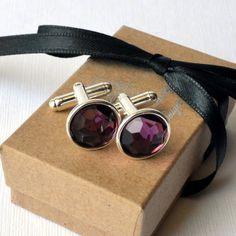 Cufflinks - true purple