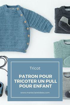 Patron pour tricoter un pull pour enfant / knitting pattern for kids / patron de tricot enfant