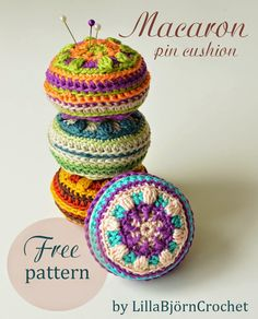 Crochet pin cushion Free pattern