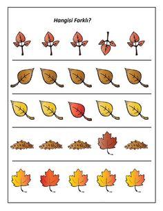 yapraklar_hangisi_farklı Fun Worksheets For Kids, Autumn Activities For Kids, Visual Perception Activities, Fall Crafts, Infant, Preschool, Pixel Art, Teaching, Montessori Activities
