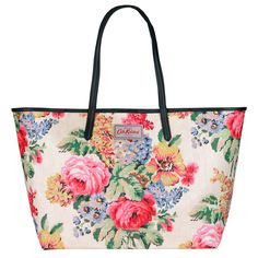Bloomsbury Bouquet Large Leather Trim Tote | Totes | CathKidston
