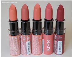 NYX butter lipstick pictures and swatches http://www.beautybuzzhub.com/2014/02/nyx-butter-lipstick-pictures-swatches.html