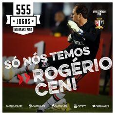 23.05.2015 - Rogério Ceni completa 555 jogos no Campeonato Brasileiro, todos pelo Tricolor