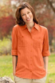 Textured Button-front Shirt Orvis. $49.00
