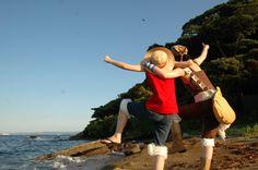 Luffy and Usopp - One piece Cosplayeur : Rihito – RilaMuraki Japan Best Cosplay Ever, Epic Cosplay, Cosplay Wigs, Anime Cosplay, Awesome Cosplay, Great Costume Ideas, Cool Costumes, One Piece Cosplay, Zoro Nami