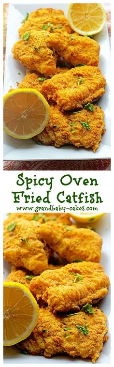 Lovely Spicy Oven Fried Catfish – www.grandbaby-cak… Jocelyn (Grandbaby Cakes) The post Spicy Oven Fried Catfish – www.grandbaby-cak… Jocelyn (Grandbaby Cakes)… appeared first on Recipes 2019 . Fried Catfish Recipes, Chicken Recipes, Baked Catfish, Grilled Catfish, Blackened Catfish, Salmon Recipes, Seafood Dinner, Fish And Seafood, Gastronomia