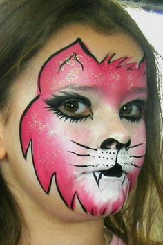 Kat schmink / cat face paint www.hierishetfeest.com