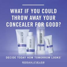 What IF you could throw your concealer away??  What if you could throw your foundation away?  What if you could change your skin to a more luminous, softer, clearer appearance?  Would you do it?  Of course you would, who wouldn't!   PM me now for more information and let's get you started toward simply beautiful skin!  #nobrainer