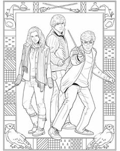 Harry Potter Coloring Book Best Of Harry Potter Coloring Pages to Print Pict 827 Gianfreda Harry Potter Ron And Hermione, Harry Potter Colors, Harry Potter Free, Arte Do Harry Potter, Theme Harry Potter, Harry Potter Printables, Harry Potter Drawings, Harry Potter Characters, Harry Potter Word Search