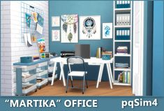 """Martika"" Office. Sims 4 Custom Content."