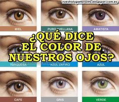 ¿QUÉ DICE EL COLOR DE NUESTROS OJOS? La iridología es la ciencia que estudia el iris de los ojos, a partir del cual podemos averiguar una predisposición a padecer determinados problemas de salud según nuestro color.