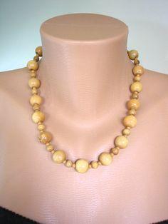 Mens Bead Necklace Festival Jewelry Wooden Bead by DestashRehash