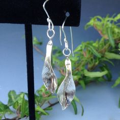 Sterling Silver Leaf Earrings Small by HeatherEvansJewelry on Etsy, $25.00