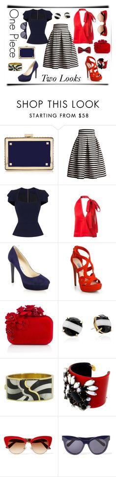 """""""One piece 2 looks"""" by sky-ford-images ❤ liked on Polyvore featuring Valentino, Rumour London, Roland Mouret, Chloé, Jimmy Choo, Prada, Kate Spade, Asch Grossbardt, Dolce&Gabbana and Karen Walker"""