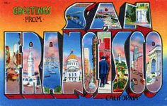 Greetings from San Francisco, California - Large Letter Postcard