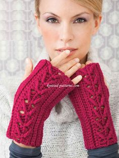 Cabled  Mitts FREE crochet pattern (hva)