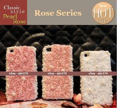 New Bling Princess Pearl Roses DIY Cell Phone I Phone 4 4S Case Deco Den Kit | eBay