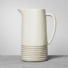 Stoneware Pitcher - Gray Stripe - Hearth & Hand with Magnolia