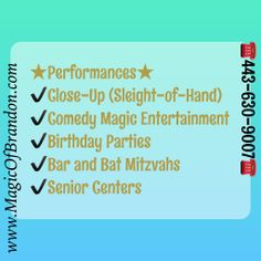 Comedy Magician and Illusionist | Senior Center Entertainment Specialist at Brandon Freeman Entertainment | Baltimore Maryland Magician 443-630-9007 Rosedale, MD