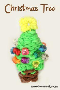3D Christmas Tree loom band tutorial http://loomband.co.za/3d-christmas-tree-loom-band-tutorial/