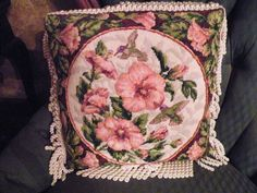 counted cross stitch - hummingbirds - 1990