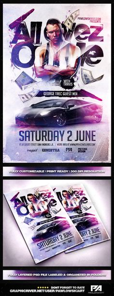 All Eyez On Me PSD Flyer Template - Clubs & Parties Events