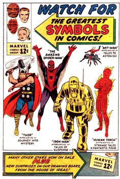 Marvel Comics promo advertisement.