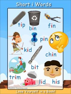 short i sound poster - FREE & Printable - Ideal for Word Walls & Guided Reading Sessions Phonics Blends, Phonics Rules, Phonics Words, Cvc Words, Phonics Chart, Spelling Rules, Phonics For Kids, Phonics Reading, Teaching Phonics