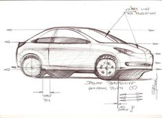 Car sketch tutorial sample | Car Design Education Tips.