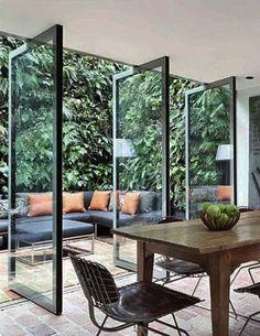 desain pintu pivot modern