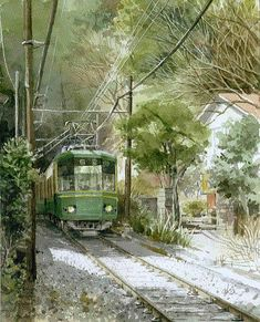 Watercolor by Takashi Akasaka Japan Watercolor, Watercolor Sketch, Watercolor Landscape, Watercolor Illustration, Watercolor Paintings, Kamakura, Canvas Paper, Henri Matisse, Japanese Artists