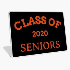 'Class of 2020 Seniors' Laptop Skin by Class Of 2020, Laptop Covers, Macbook Air 13, Laptop Skin, Iphone Wallet, Vinyl Decals, Vibrant Colors, Bubbles, Art Prints