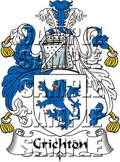 Crichton Family Crest apparel, Crichton Coat of Arms gifts