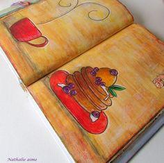 Nathalie M: Petites douceurs dans mon art journal...