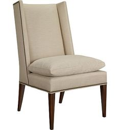 Martin Host Chair with Loose Cushion w/out Arms - Ash from the 1911 Collection collection by Hickory Chair Furniture Co.