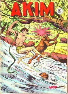 Akim est une série de bande dessinée italienne, publiée en petit format.Akim : (alias Jim Rank).il est adopté par un gorille qui le soigne et le nourrit. Il apprend le langage des animaux et devient leur « roi » appelé Akim.756 numéros de septembre 1958 à février 1991, bimensuel sur presque toute la durée de publication........SOURCE WIKIPEDIA.ORG..........