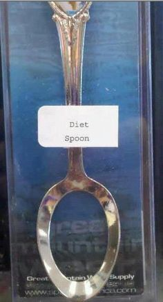 Just For Laugh: Diet Spoon  I need an entire set of these.... prong-less fork and  rubber knife! Unfortunately, it wouldn't stop me! I still got hands!