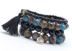 Bracelets – Set bracelets GAT 16 – a unique product by Blackif on DaWanda