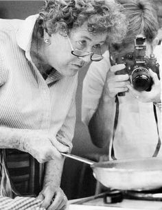 """Julia Child......no other like her. ! ! !  A great quote to  always  remember:---- No matter what happens in the kitchen, never apologize. """""""