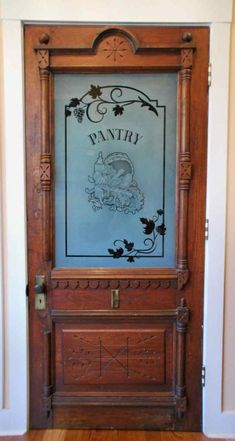 Vino Grape Ivy Border Pantry Doors Customize everything about your glass pantry door! Quality, custom designs, ANY DECOR! Slab, pre-hung or glass only! Sliding Glass Door, Kitchen Pantry Doors, Vintage Doors, Glass Pantry Door, Etched Glass Door, Glass Etching, Farmhouse Doors, Pantry Design, Doors