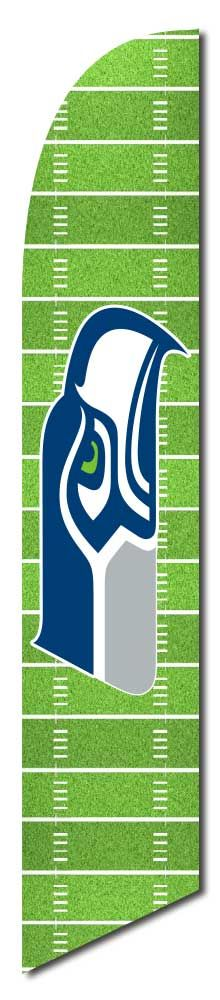 Seattle Seahawks Field Windless Swooper Flag by NEOPlex on Sale $99.95