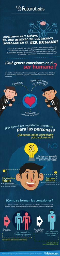¿Por qué nos gustan tanto las redes sociales?  Infografía recomendada por www.adhodc.com @mariancoves