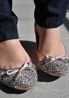 sparkly ballet flats