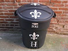 Trash cans are so ugly. What a great idea!