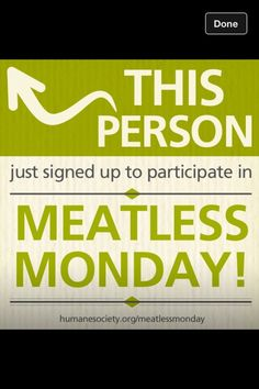Meatless Monday icon! #meatlessmonday #vegan