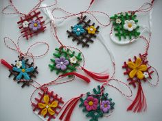 martisoare – Page 3 – Martisoare handmade Polymer Clay Art, Polymer Clay Jewelry, Paper Clay, Diy Paper, Christmas Crafts For Kids, Christmas Ornaments, Homemade Beer, Origami Flowers, Paper Quilling