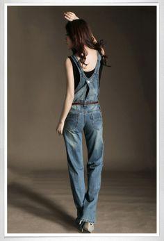 443bd8f90896 Aliexpress.com   Buy Straight jumpsuit denim bib overalls women bodysuits  women romper ladies jumpsuits