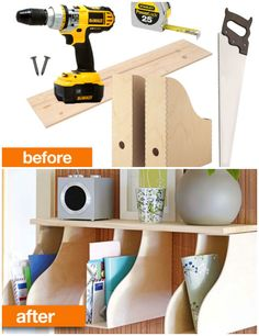 Before After diy ikea hack Good for the kids magazines and books by the bed